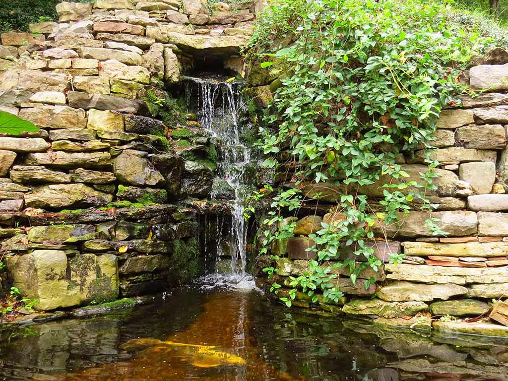 Benton Place Inn Pond and Waterfall