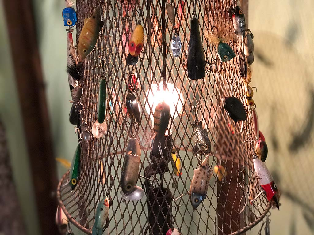 Buck Ridge Cabin Fishing Lure Lamp Shade