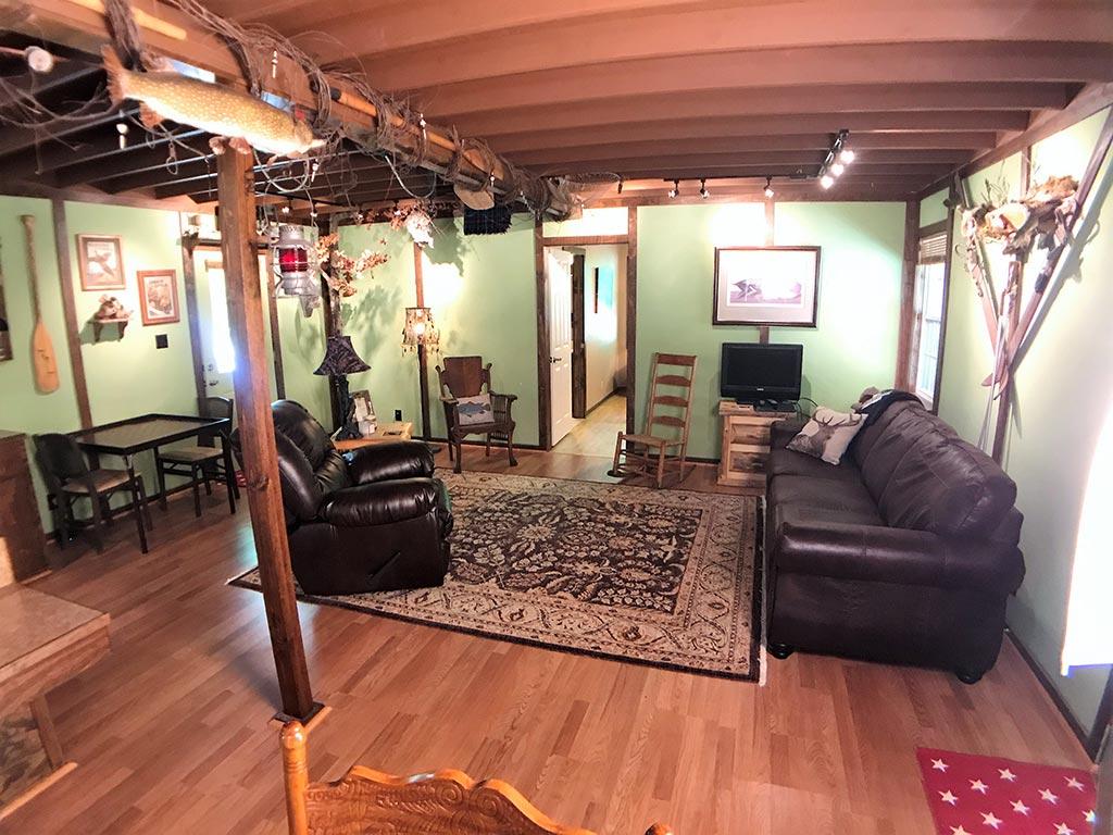Buck Ridge Cabin Living from Dining