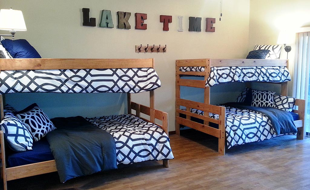 Ridgeview - Bunk Beds on Back of Downstairs Game Room